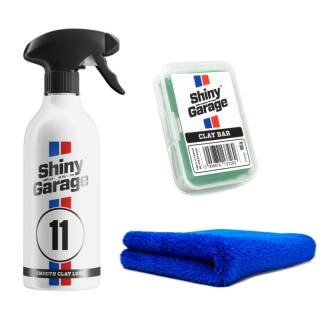 Lacklord Sparkit Shiny Garage Knete u. Clay lube + The Collection ULTRA SOFT 500 GSM Mikrofasertuch 40CM X 40CM